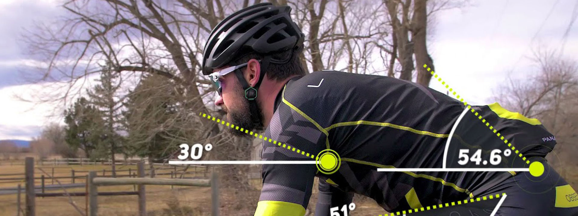 Etape 1 – Biomechanik & Bikefitting, Bild mit Radfahrer und seiner Stizposition auf dem Rad